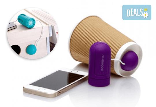 Иновативна джаджа Boombox, превръщаща всичко, до което се долепи, в тонколона