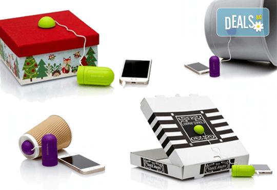 Вземете партито навсякъде със себе си! Иновативна аудио джаджа Boombox, която превръща всичко, до което се долепи, в тонколона - Снимка 2