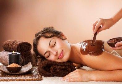 Релаксираща СПА терапия с шоколад и френска био козметика Blue Marine - дълбоко релаксиращ масаж на цяло тяло, шоколадов ексфолиант на гръб и шоколадова маска в Anima Beauty&Relax! - Снимка