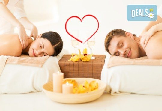 Масаж за двама със златни частици и комплимент бяло вино в Senses Massage & Recreation