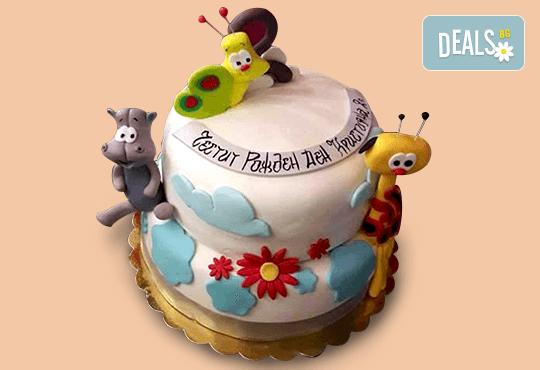 MAX цветове! Детски торти MAX цветове с 2, 3 или 4 фигурки, фотодекорация и апликация по дизайн на Сладкарница Джорджо Джани! - Снимка 6
