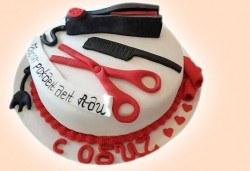 Торта за професионалисти! Вкусна торта за фризьори, IT специалисти, съдии, футболисти, режисьори, музиканти и други професии от Сладкарница Джорджо Джани! - Снимка