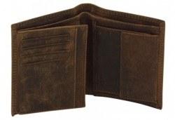 Вземете на изгодна цена! Портфейл от естествена кожа в ловджийски, винтидж стил! - Снимка
