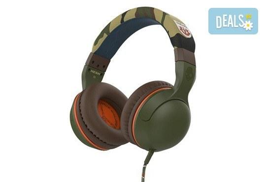 Музика без ограничения! Вземете слушалки SkullCandy Hesh 2.0 с микрофон в цвят Olive/Camouflage! - Снимка 1