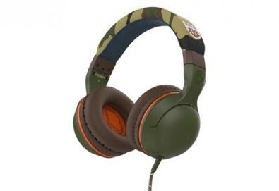 Музика без ограничения! Вземете слушалки SkullCandy Hesh 2.0 с микрофон в цвят Olive/Camouflage! - Снимка
