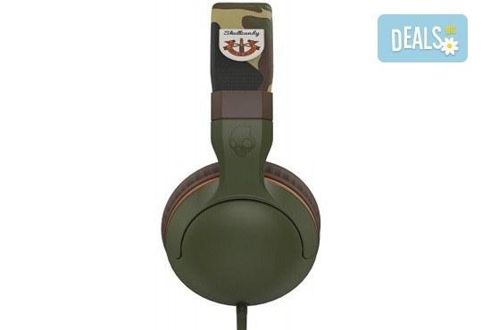 Музика без ограничения! Вземете слушалки SkullCandy Hesh 2.0 с микрофон в цвят Olive/Camouflage! - Снимка 2