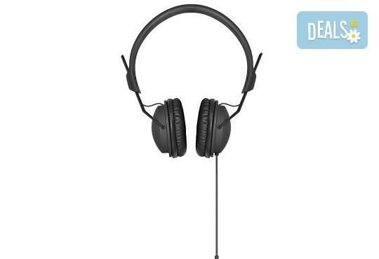 Изгодно и качествено! Подарете си леки и елегантни черни слушалки XQISIT! - Снимка 1
