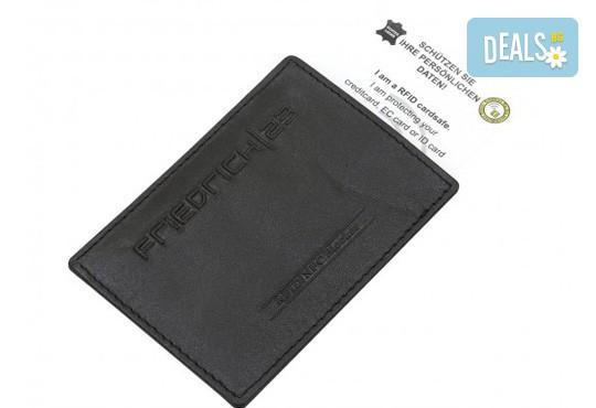 Практично и сигурно! Калъф от естествена кожа с RFID защита за безконтактни кредитни карти - Снимка 2