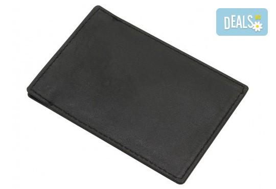 Практично и сигурно! Калъф от естествена кожа с RFID защита за безконтактни кредитни карти - Снимка 3