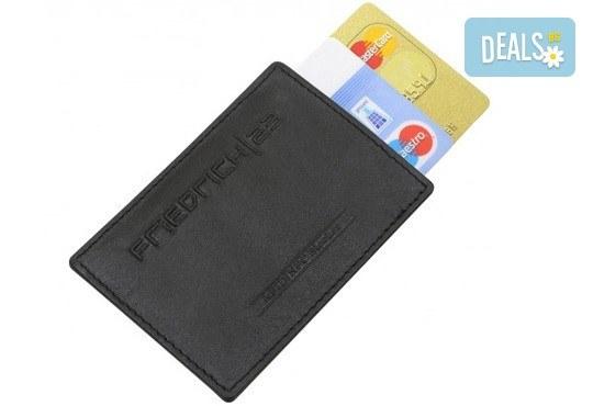 Практично и сигурно! Калъф от естествена кожа с RFID защита за безконтактни кредитни карти - Снимка 4