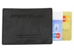 Практично и сигурно! Калъф от естествена кожа с RFID защита за безконтактни кредитни карти - Снимка