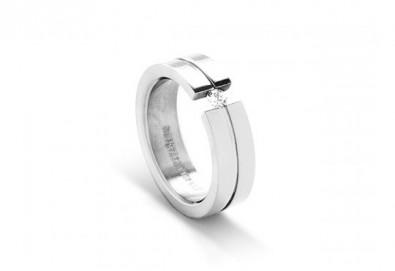 Подарете с любов - елегантен женски пръстен, изработен от титан! - Снимка