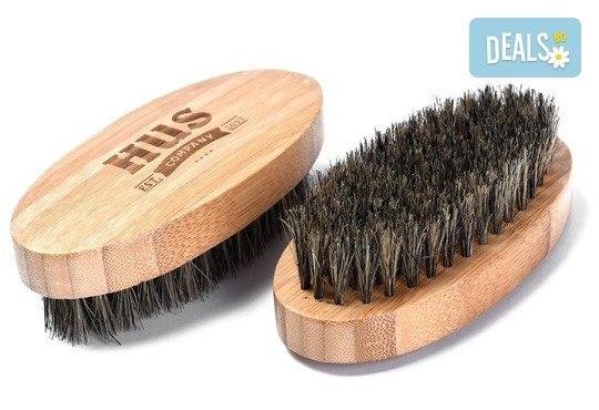 Винаги в изряден вид с комлект за брада - четка, ножичка, гребен с калъфче от Ай Пи Джи Трейд! - Снимка 4