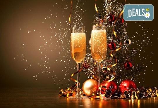 Посрещнете Нова година с веселба и танци в центъра на Банско! Богато меню със салата, предястие, основно ястия, напитки и жива музика! - Снимка 1