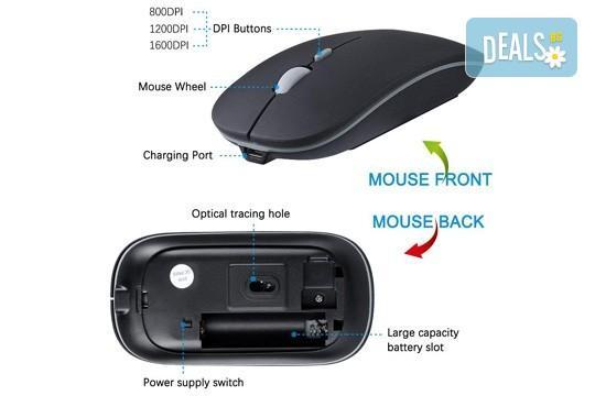 Висококачествена и безжична презареждаща се мишка с елегантен дизайн от Ай Пи Джи Трейд! - Снимка 5