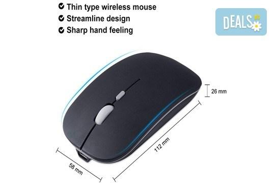 Висококачествена и безжична презареждаща се мишка с елегантен дизайн от Ай Пи Джи Трейд! - Снимка 3