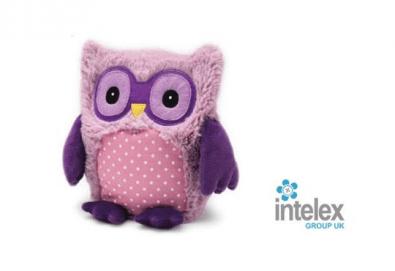 Плюшено нагряващо се Бухалче Хуути Лилаво Hooty Purple от Intelex - Снимка