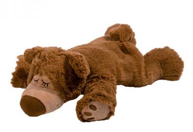 Плюшена играчка нагряващо се и охлаждащо се кафяво мече от Warmies - Снимка