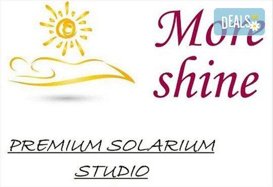 Красив тен през цялата година! Карта за вертикален турбо солариум за 10, 30 или 60 минути от Соларно студио More Shine Premium! - Снимка 9