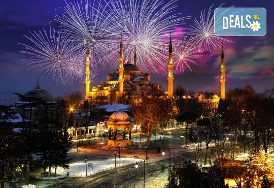 Посрещнете Нова година в Истанбул, Турция! 3 нощувки със закуски в хотел 2/3*, транспорт с дневен преход, бонус посещение на Одрин и нощна автобусна обиколка на Истанбул! - Снимка 1