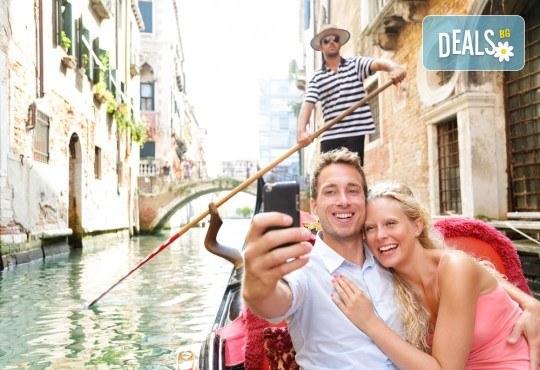 Ранни записвания за Свети Валентин в романтичната Италия! 3 нощувки със закуски в хотел 2/3*, самолетен билет, летищни такси, трансфери, посещение на Венеция и програма в Милано и Верона! - Снимка 1