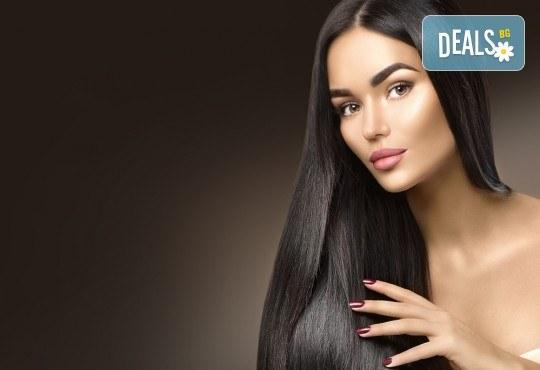 За блестяща и красива коса! Трайно изправяне с бразилски кератин и подстригване в студио за красота Галинея! - Снимка 5