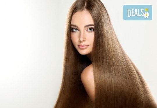 За блестяща и красива коса! Трайно изправяне с бразилски кератин и подстригване в студио за красота Галинея! - Снимка 3