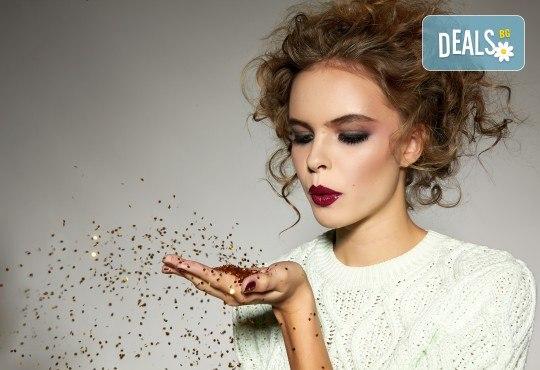 Красивия визия по празниците! Дневен или вечерен грим със или без поставяне на мигли от Makeup by MM! - Снимка 1