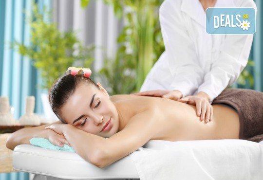 60-минутна комбинирана лечебна терапия на гръб с арома масла + мануален антицелулитен масаж на бедра със загряващ гел в Масажно студио Адонай Елохай! - Снимка 2