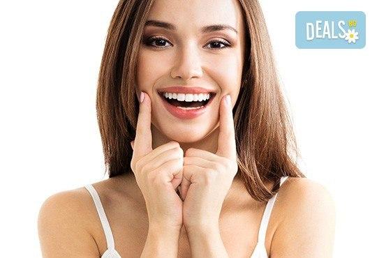 Професионално избелване на зъбите с LED лампа, почистване на зъбен камък, полиране, реминерализация и обстоен дентален преглед в Дентален кабинет Д-р Хаджийска! - Снимка 2