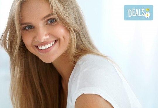 Обстоен преглед на зъби, фотополимерна пломба и план за лечение от Дентален кабинет д-р Снежина Цекова! - Снимка 1