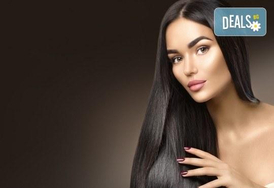 Масажно измиване, трайно изправяне с арган и терапия според нуждите на косата във фризьоро-козметичен салон Вили! - Снимка 3