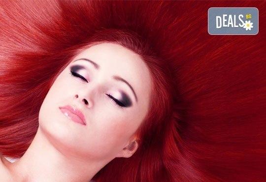Нов цвят! Боядисване с боя на клиента + подстригване, маска и прическа от Wave studio-НДК - Снимка 4