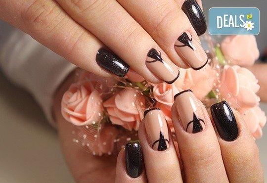 Заздравяване на естествен нокът чрез гел, специално съзаден да предпазва меките и чупливи нокти, и маникюр с гел лак и 2 декорации в студио за красота Jessica! - Снимка 3