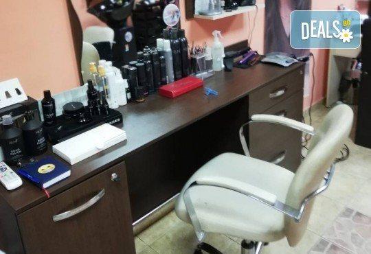 Подстригване, терапия по избор: подхранваща, ботокс или за запазване на цвета, и оформяне на прическа със сешоар в салон за красота Дамалия! - Снимка 5
