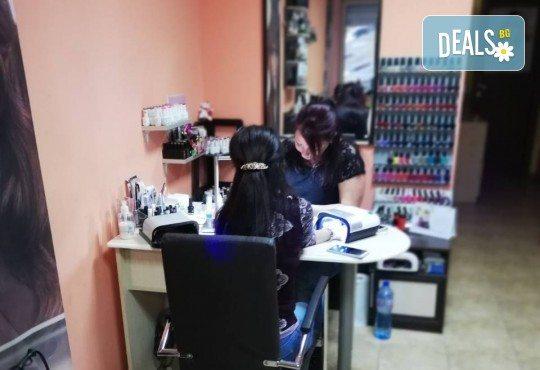 Подстригване, терапия по избор: подхранваща, ботокс или за запазване на цвета, и оформяне на прическа със сешоар в салон за красота Дамалия! - Снимка 8