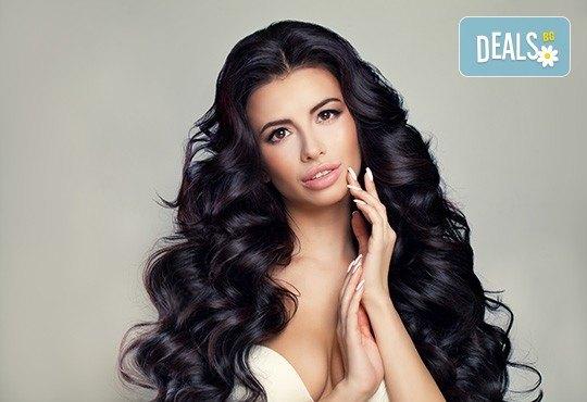 Терапия за коса по избор - подхранваща, ботокс или за запазване на цвета, и оформяне на прическа със сешоар в салон за красота Дамалия! - Снимка 2