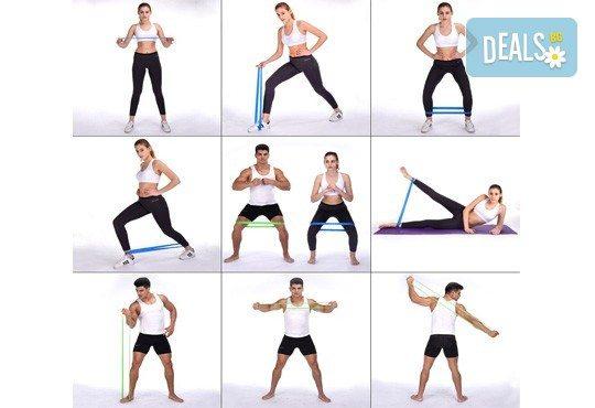 Тренирайте без ограничения! 5 броя ластици за фитнес, йога, пилатес или кросфит от Ай Пи Джи Трейд! - Снимка 4