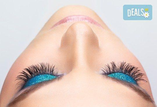 Поставяне на 3, 4 или 5D мигли или 'косъм по косъм' в салон за красота Bellisima