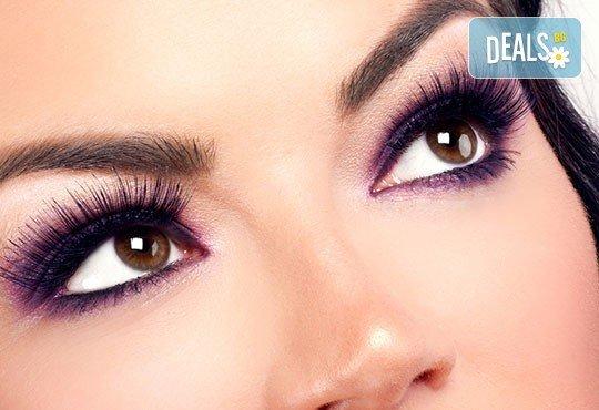 Сексапилен поглед! Поставяне на копринени мигли по избор в V&A Glamour Beauty Salon! - Снимка 3