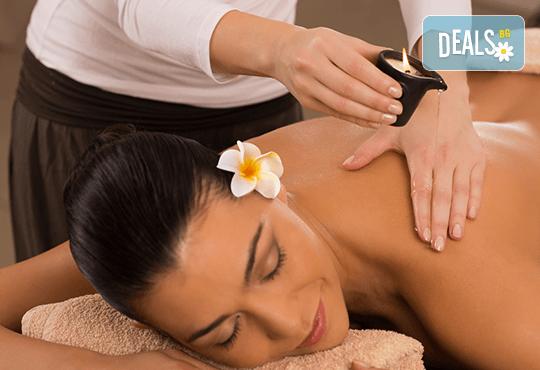 Релаксираща СПА терапия на цяло тяло със 100% натурални масажни свещи Abogea и ароматни масла в Anima Beauty&Relax! - Снимка 1