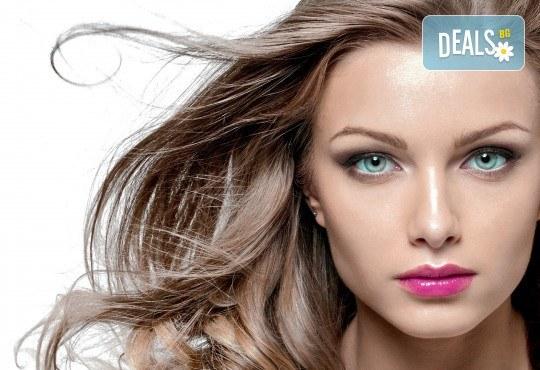 Подстригване, подхранваща терапия с маска на Alfaparf Milano и прическа със сешоар в Студио за красота Angels of Beauty! - Снимка 1