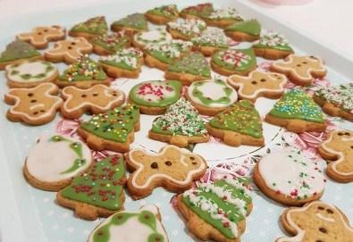 За Коледа! Един килограм коледни сладки: кукис с бял шоколад, декорирани коледни курабии, шарени, шоколадови и снежни топки от Приказка от сладкиши! - Снимка