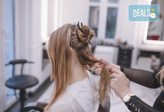 За празниците! Официална прическа с кок, терапия за коса и флуид при стилист в Салон за красота Blush Beauty! - Снимка 4