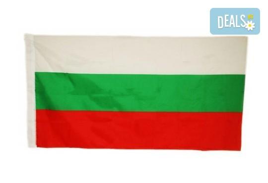 Българското знаме, изработено от сатен или полиестер, с размери по избор от znamena-flagove.com! - Снимка 1