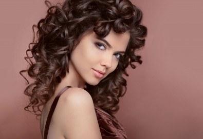 Букли с маша или преса и подхранваща маска и стилизиране при стилист в Салон за красота Blush Beauty! - Снимка
