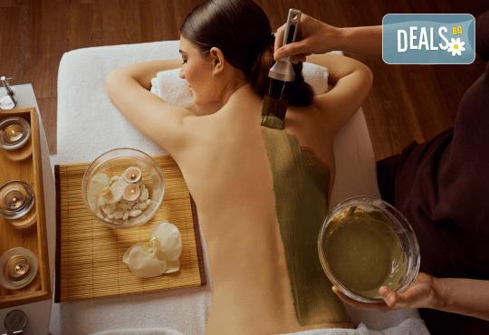 30-минутен лечебен масаж на гръб с луга от рехабилитатор + 15-минутна апликация на зона по избор и бонус: 20% отстъпка от всички продукти на Поморийска Луга в козметичен център DR.LAURANNE! - Снимка 2