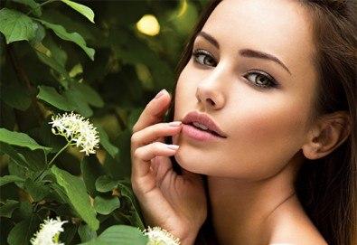 Почистване на лице и колагенова мезотерапия или антиакне терапия с био козметика на водещата немска фирма Dr. Spiller в козметично студио Beauty