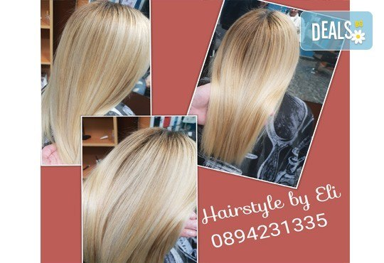 Терапия за коса по избор - кератинова, арганова или против косопад, подстригване по избор и оформяне на прическа в Hairstyle by Elitsa! - Снимка 6