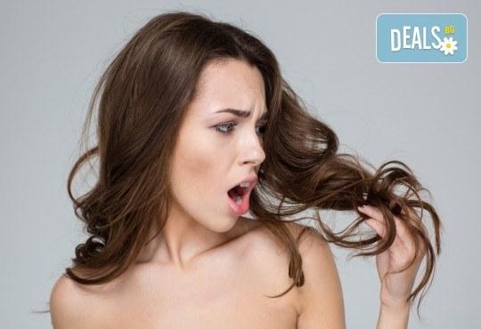 Терапия за коса по избор - кератинова, арганова или против косопад, подстригване по избор и оформяне на прическа в Hairstyle by Elitsa! - Снимка 1